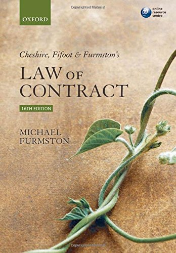 9780199568345: Cheshire, Fifoot and Furmston's Law of Contract