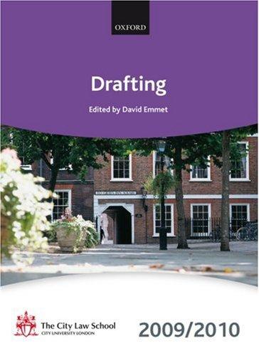 9780199568512: Drafting 2009-2010: 2009 Edition (Bar Manuals)