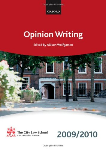 9780199568543: Opinion Writing 2009-2010: 2009 Edition (Bar Manuals)