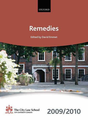 9780199568567: Remedies 2009-2010: 2009 Edition (Bar Manuals)