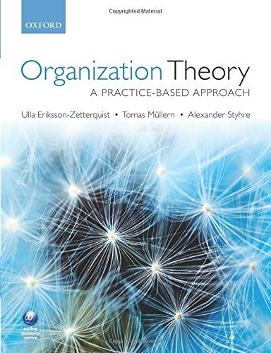 9780199569304: Organization Theory: A Practice Based Approach
