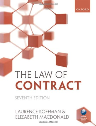 9780199570201: The Law of Contract