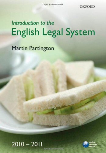 9780199571727: Introduction to the English Legal System