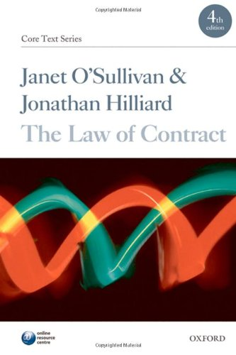 9780199571741: The Law of Contract (Core Texts Series)