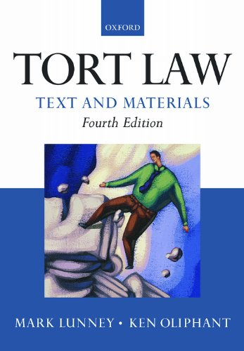 9780199571802: Tort Law: Text and Materials