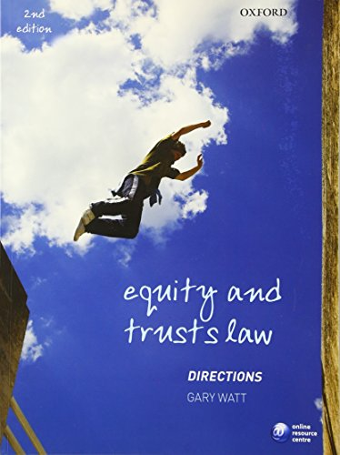 9780199572038: Equity and Trusts Directions (Directions Series)