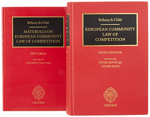 9780199572229: Bellamy & Child: European Community Law of Competition