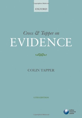 9780199574148: Cross & Tapper on Evidence
