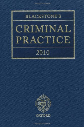 Blackstone's Criminal Practice 2010 (9780199574209) by Ormerod, David; Hooper, The Right Honourable Lord Justice