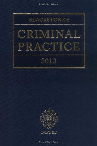 Blackstone's Criminal Practice 2010 (Book & CD-ROM pack) (9780199574230) by Ormerod, David; Hooper, The Right Honourable Lord Justice