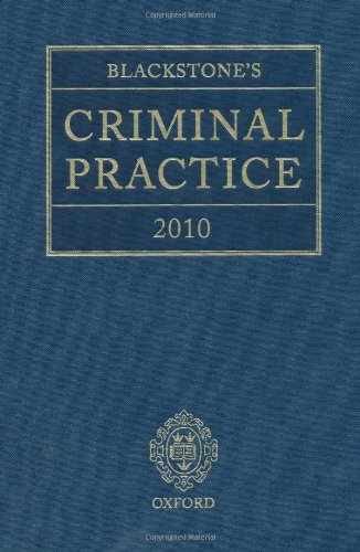 Blackstone's Criminal Practice 2010 (book & CD-ROM pack with all supplements) (9780199574254) by Ormerod, David; Hooper, The Right Honourable Lord Justice