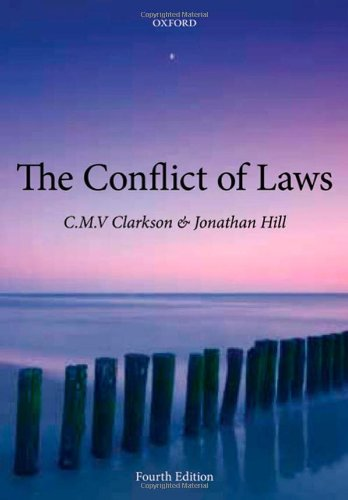 9780199574711: The Conflict of Laws
