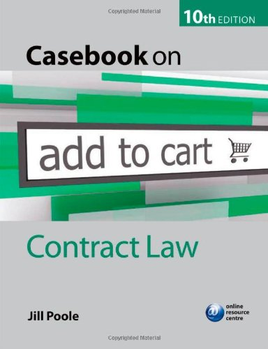 9780199574780: Casebook on Contract Law