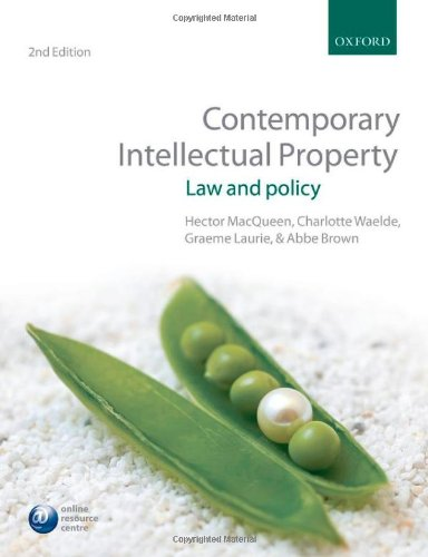 9780199575329: Contemporary Intellectual Property: Law and Policy
