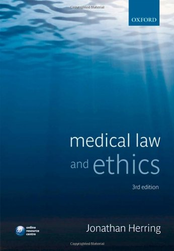 9780199576487: Medical Law and Ethics