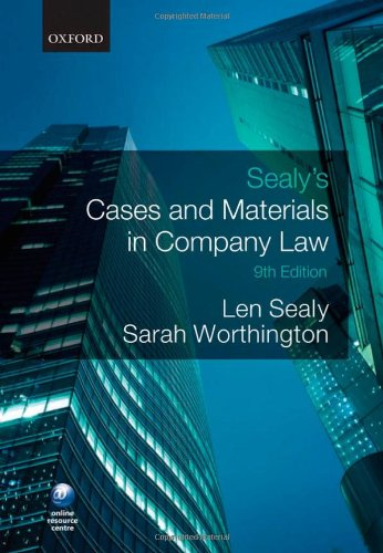 9780199576807: Sealy's Cases and Materials in Company Law