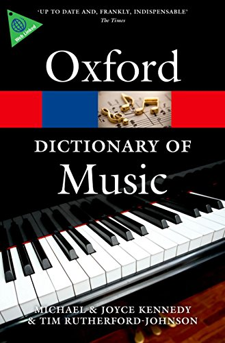 9780199578542: The Oxford Dictionary of Music (Oxford Quick Reference)