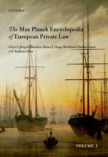Max Planck Encyclopedia of European Private Law: Basedow, Jurgen; Hopt,