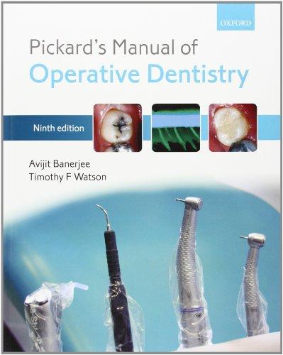 9780199579150: Pickard's Manual of Operative Dentistry