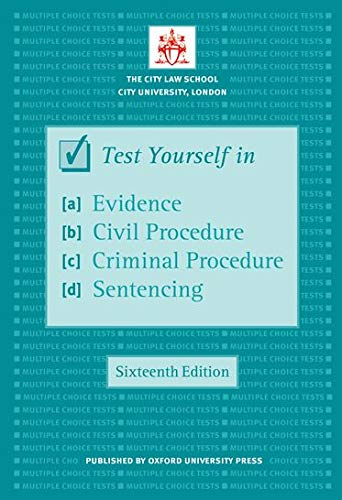 9780199579228: Test Yourself in Evidence, Civil Procedure, Criminal Procedure & Sentencing (Bar Manuals)