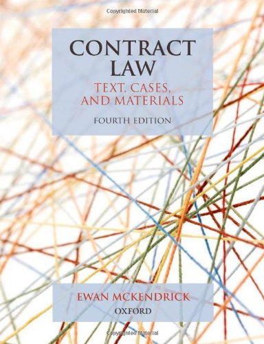 9780199579792: Contract Law: Text, Cases, and Materials