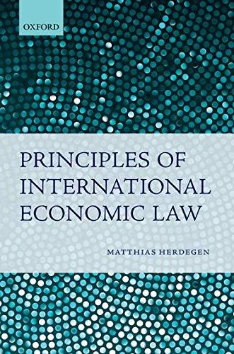 9780199579860: Principles of International Economic Law