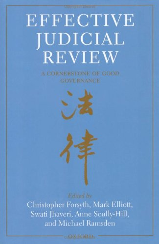 9780199581054: Effective Judicial Review: A Cornerstone of Good Governance