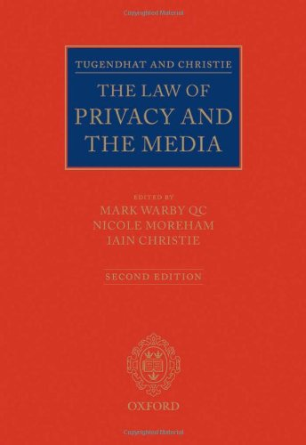 9780199581153: Tugendhat and Christie: The Law of Privacy and The Media
