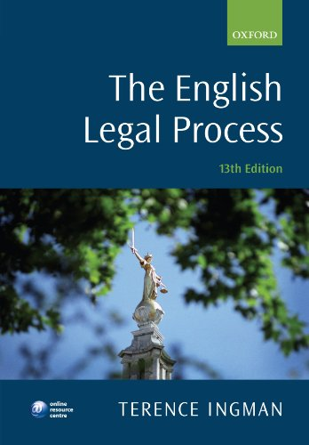 9780199581948: The English Legal Process