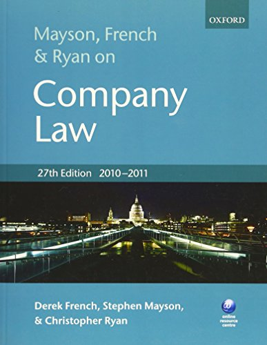 9780199582037: Mayson, French and Ryan on Company Law