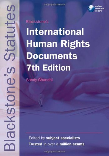 9780199582372: Blackstone's International Human Rights Documents (Blackstone's Statute Series)