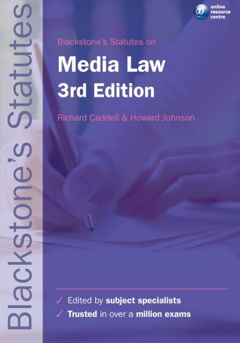 9780199582419: Blackstone's Statutes on Media Law (Blackstones Statutes Series) (Blackstone's Statute Series)