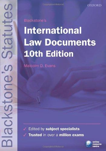 9780199582440: Blackstone's International Law Documents (Blackstone's Statutes)