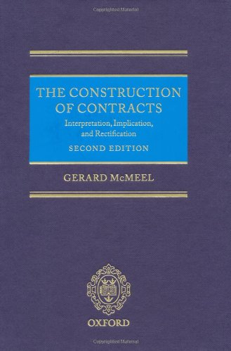 The Construction of Contracts (Hardback): Gerard McMeel