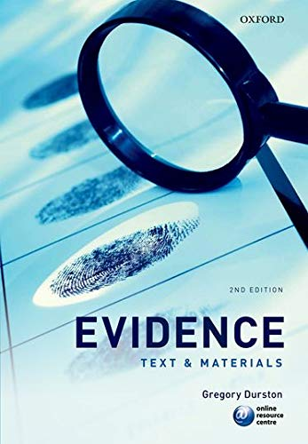 9780199583607: Evidence: Text & Materials