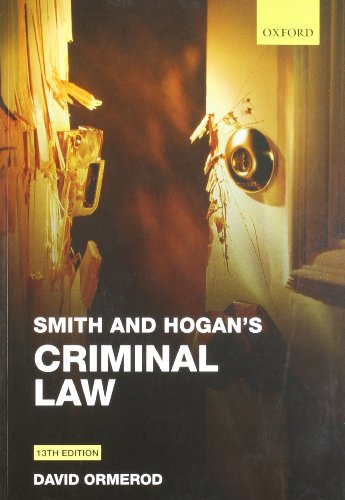 Smith and Hogan's Criminal Law (Thirteenth Edition)