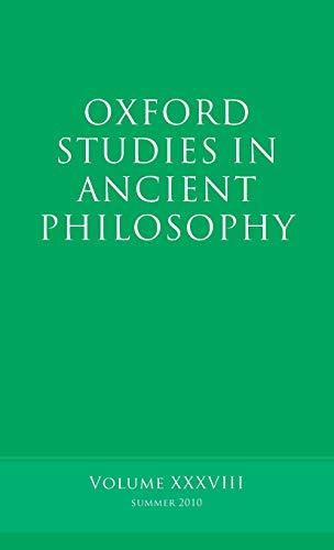 Oxford Studies in Ancient Philosophy, Volume 38.: INWOOD, B.,