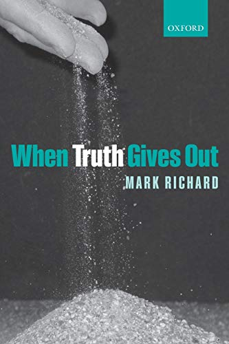 When truth gives out.: Richard, Mark.