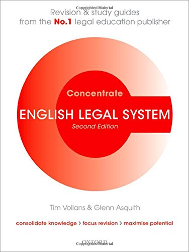 9780199587773: English Legal System Concentrate