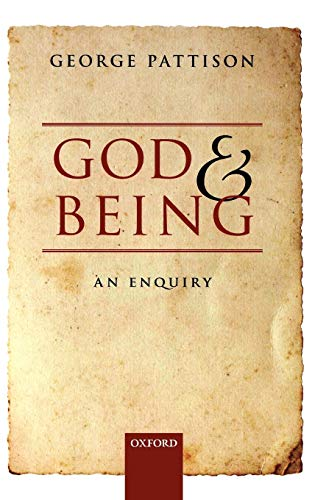 9780199588688: God and Being: An Enquiry