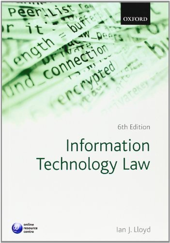 9780199588749: Information Technology Law