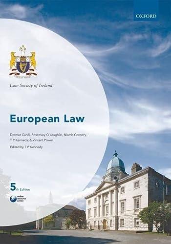 9780199589050: European Law (Law Society of Ireland Manuals)