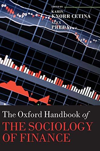 9780199590162: The Oxford Handbook of the Sociology of Finance (Oxford Handbooks)