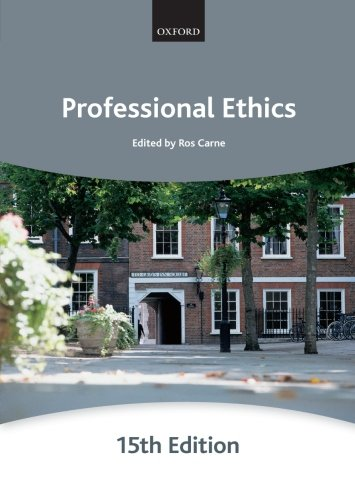 Professional Ethics (Bar Manuals): Carne, Ros