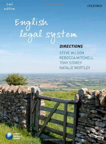 9780199592241: English Legal System Directions