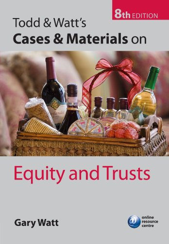 9780199593392: Todd & Watt's Cases and Materials on Equity and Trusts