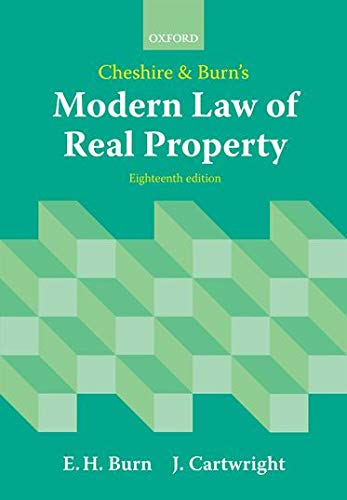9780199593408: Cheshire and Burn's Modern Law of Real Property