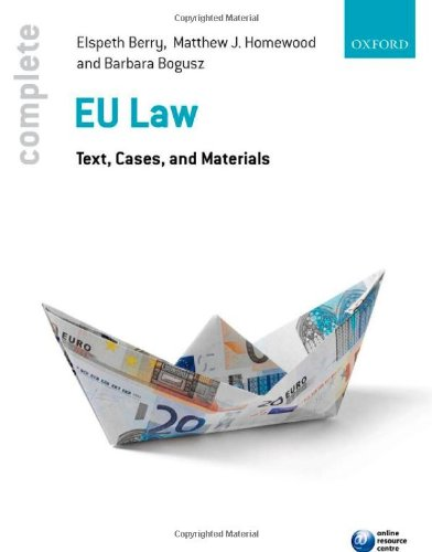 9780199595310: Complete EU Law: Text, Cases, and Materials