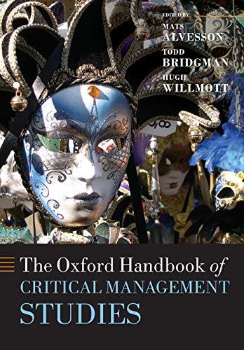 9780199595686: The Oxford Handbook of Critical Management Studies (Oxford Handbooks)