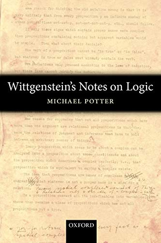 9780199596355: Wittgenstein's Notes on Logic